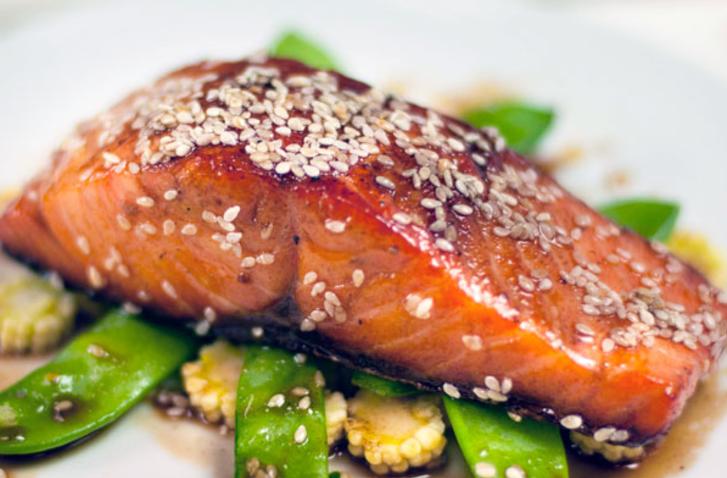 Sesame glazed salmon - wild caught, locally sourced!