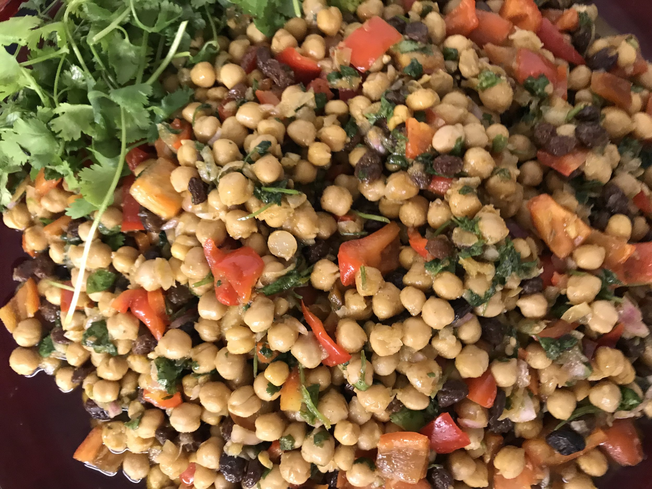 curried chickpea salad - one of our favorites!