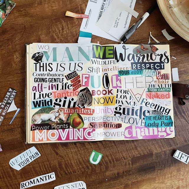 Alana chose a vision journal instead of a board.  There are so many ways to set your intentions, make it work for your unique style!  Empress Mentality #visionboardworkshop 5/11