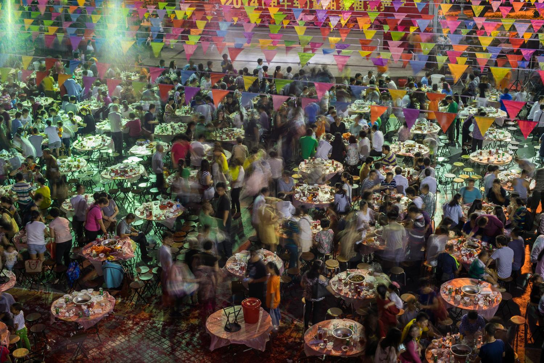 Community celebration in Shenzhen, China