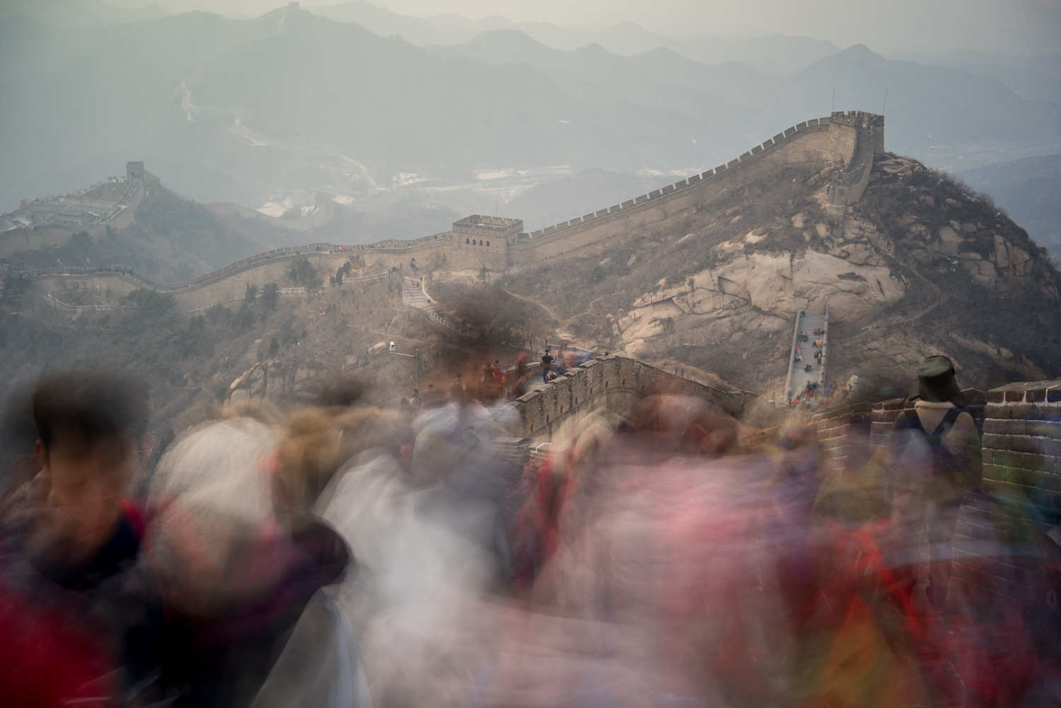 At the Badaling section of the Great Wall of China. Near Beijing, China