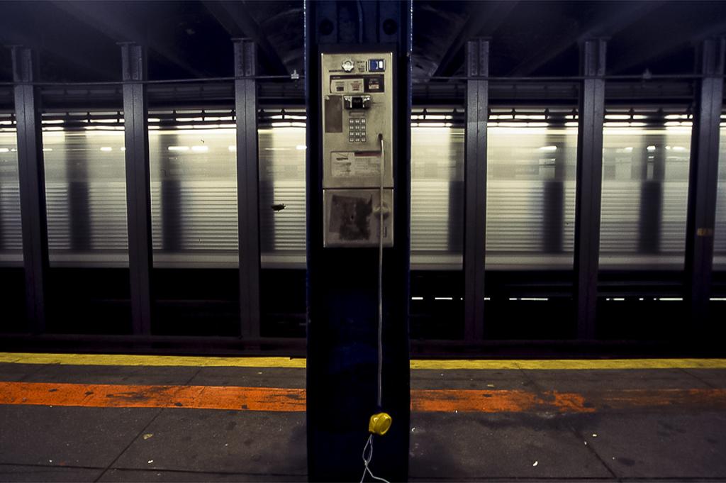 Phone in New York's subway - NYC - USA