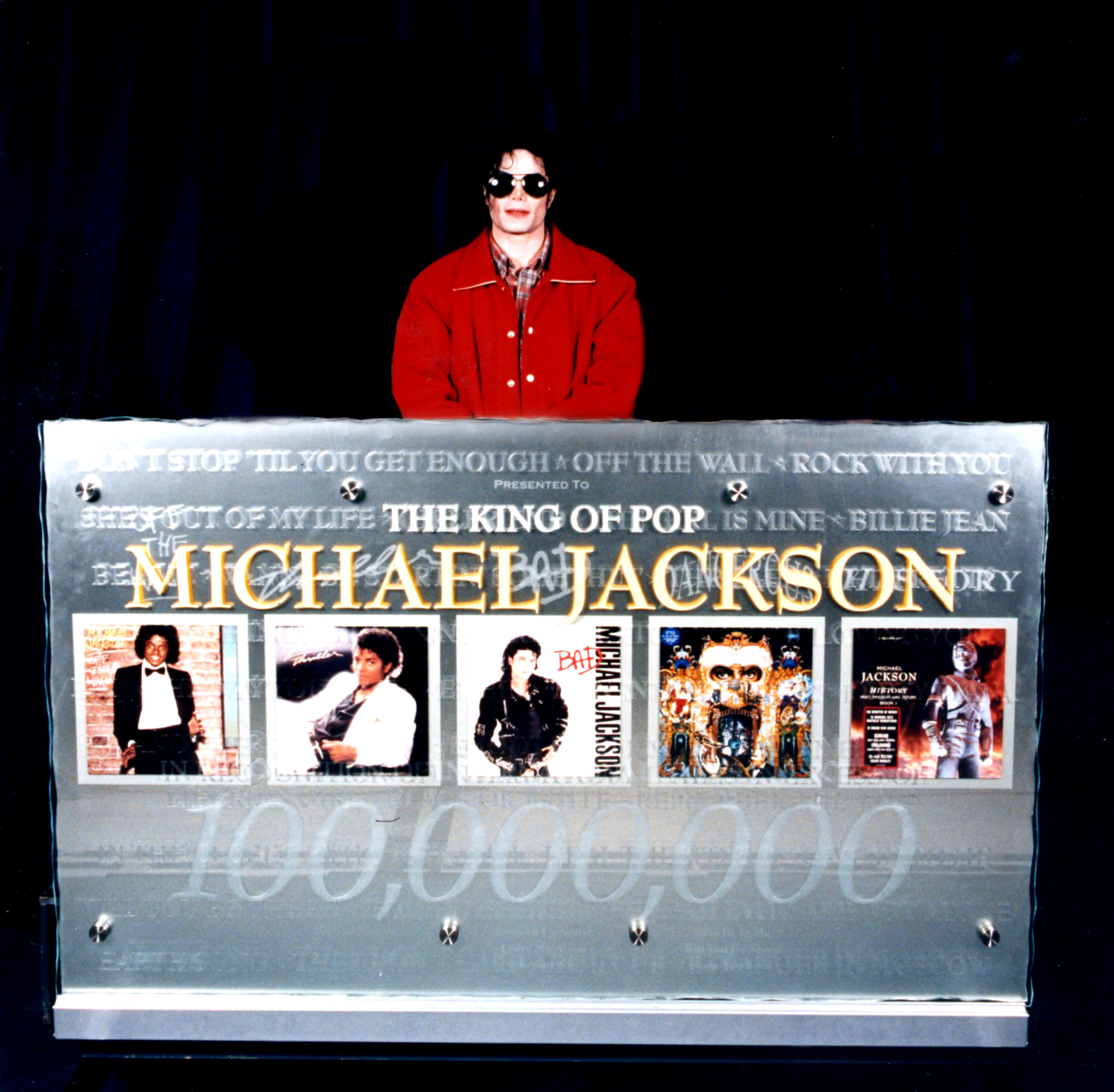 Michael Jackson 100,000,000 (Bespoke award)