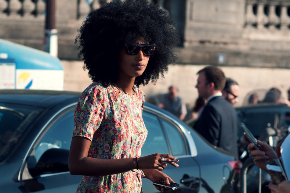 Julia Sarr Jamois look isn't complete without her set of full bodied locks.