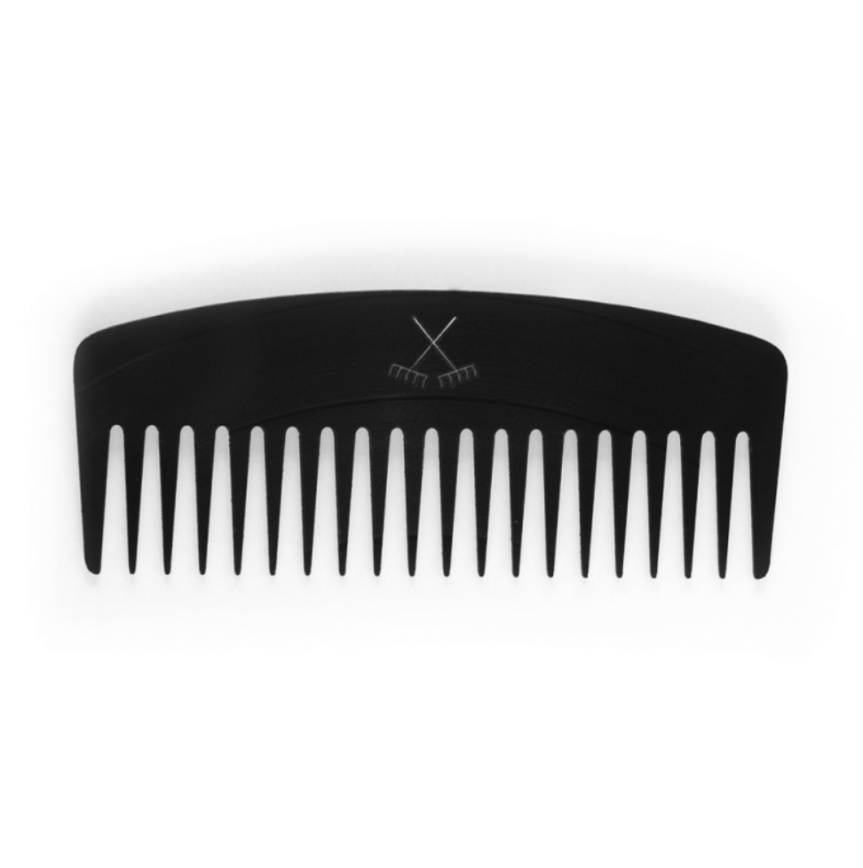 A wide tooth comb is the only way apart from using your fingers for a curly haired maven to brush their hair. It is less likely to break the hair and will sort out any tangles.