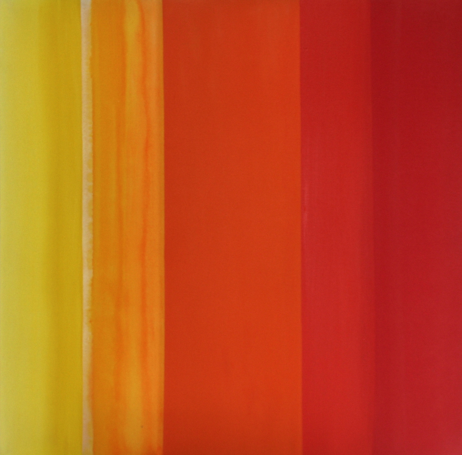 Stripe Series (Red Painting)    oil on canvas  100 cm x 100 cm
