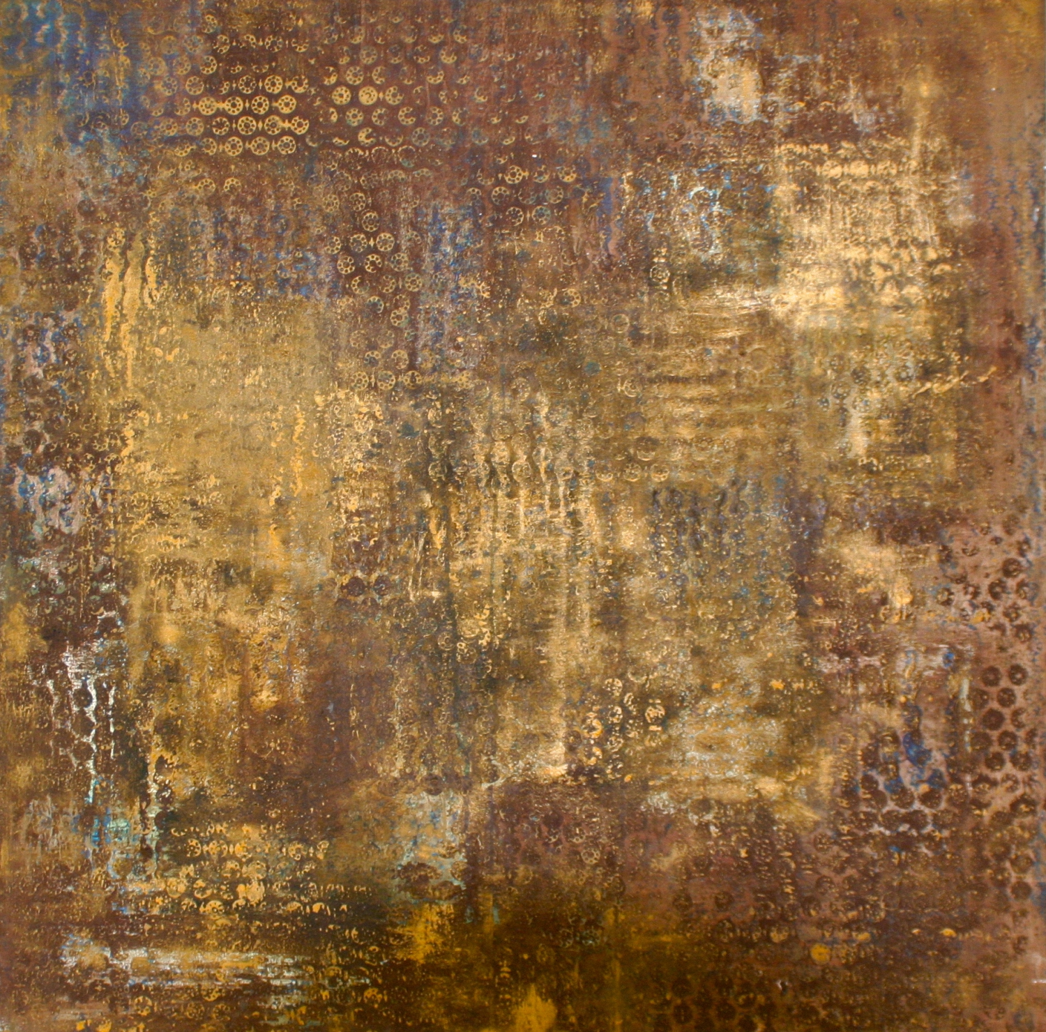 Brown Painting SOLD    mixed media on canvas  100 cm x 100 cm