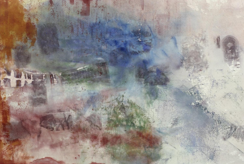 Present Tense Ronda SOLD    mixed media on canvas  210 cm x 150 cm