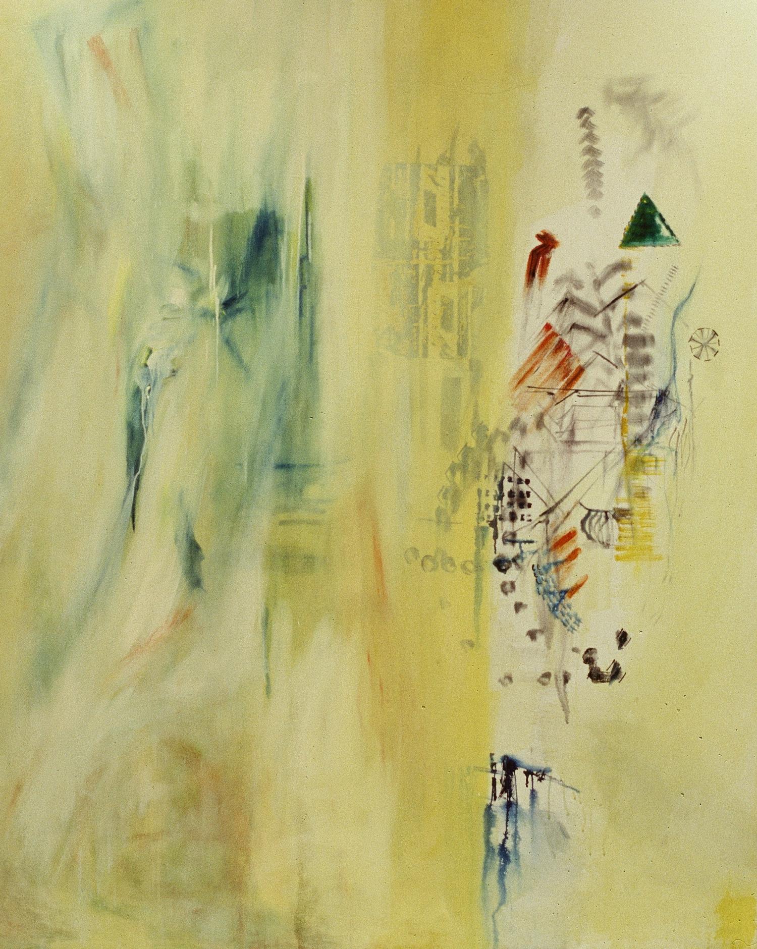 Breaking Boundaries    mixed media on canvas  180 cm x 210 cm