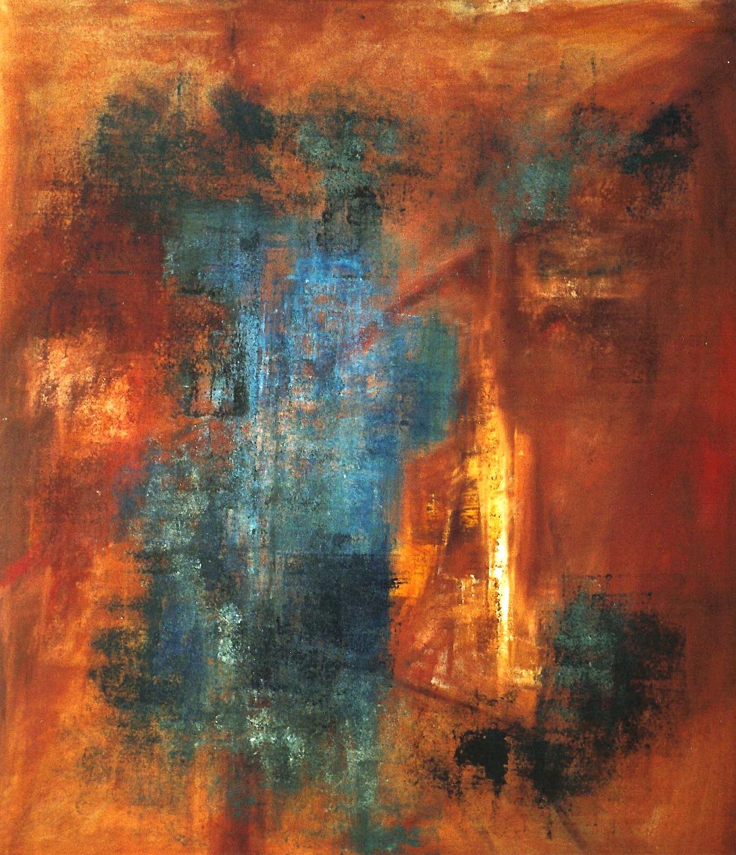 The Blue Door    oil on canvas  150cm x 250cm
