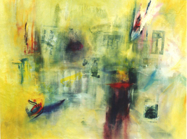 New World/Old World  mixed media on canvas  210 cm x 176 cm