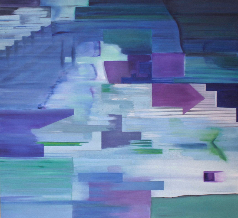 Fast Forward    oil on canvas  120cm x 120cm