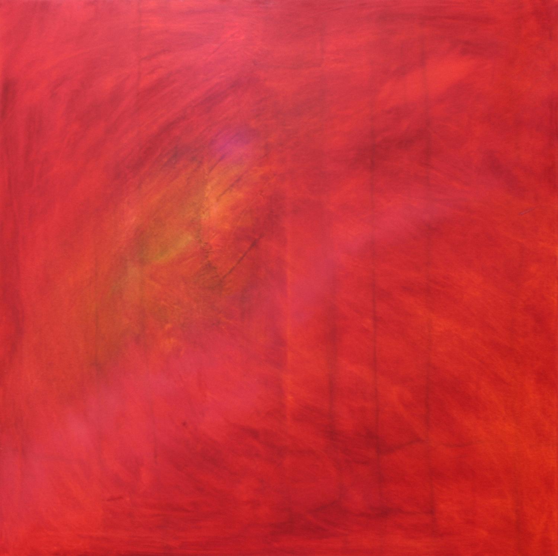 Hibiscus    oil on canvas  80cm x 80cm