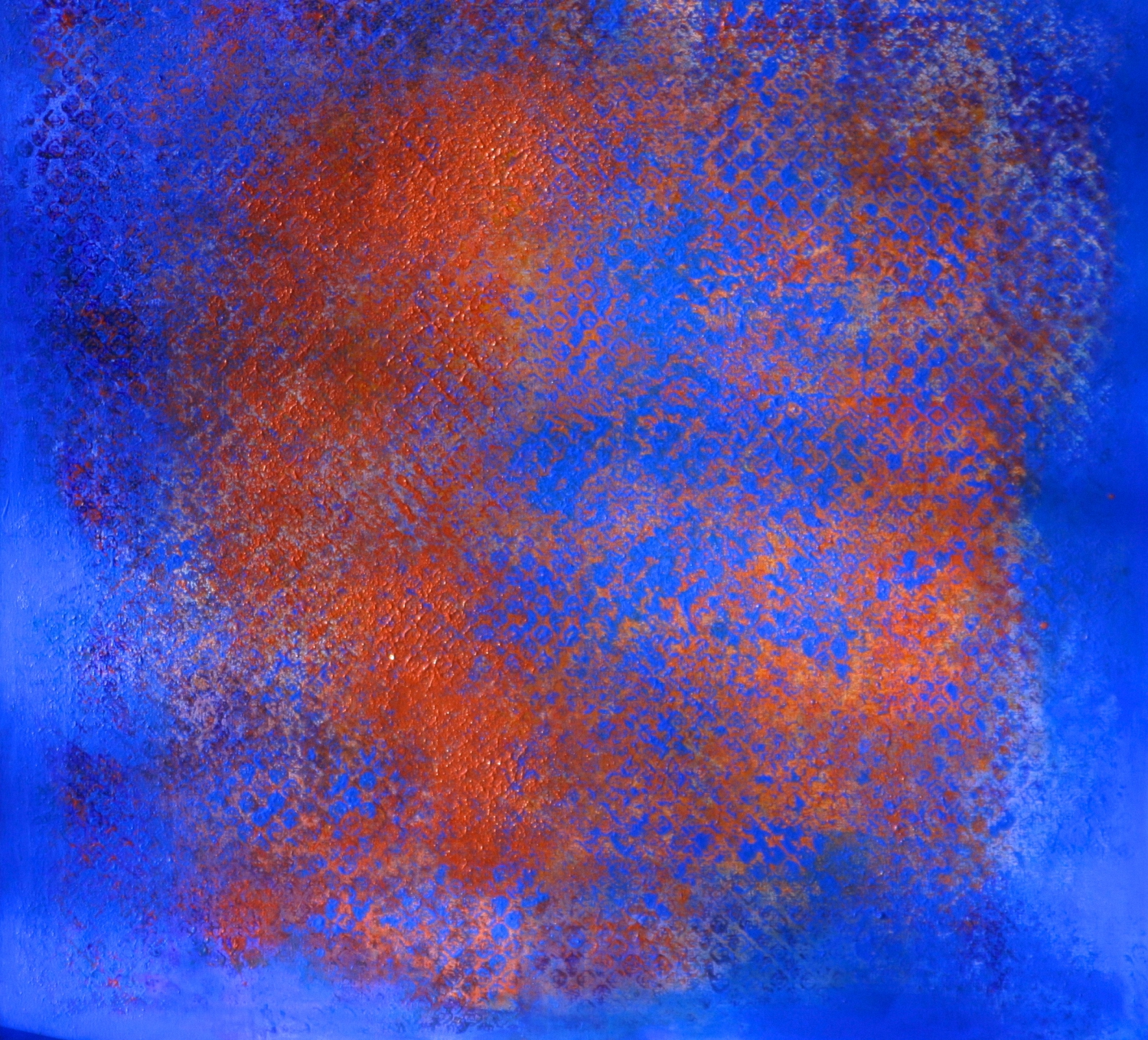 UNTITLED (BLUE PAINTING) Sold    oil on canvas  100 cm x100 cm