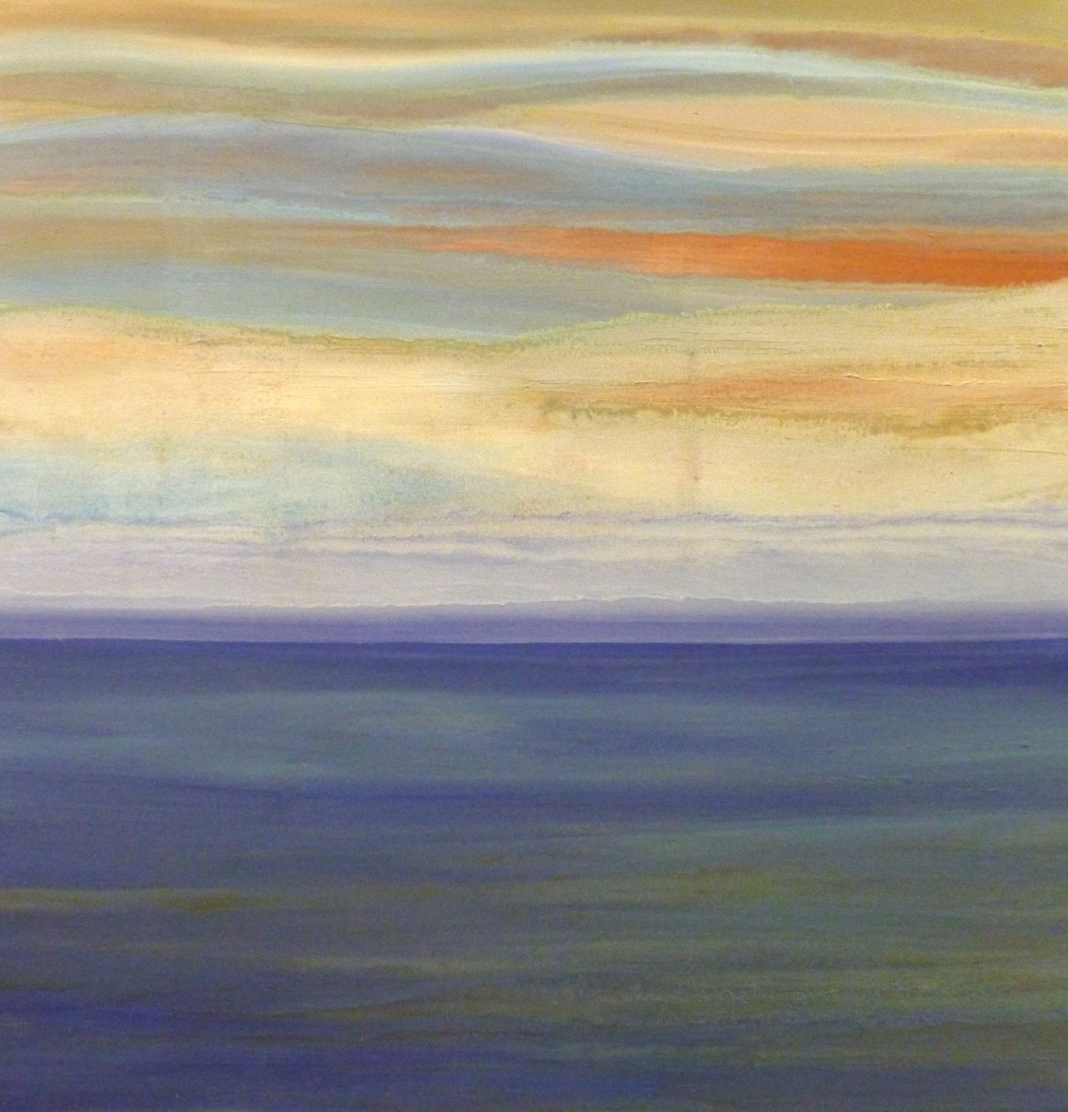 The Horizon    oil on canvas  90cmx 90cm