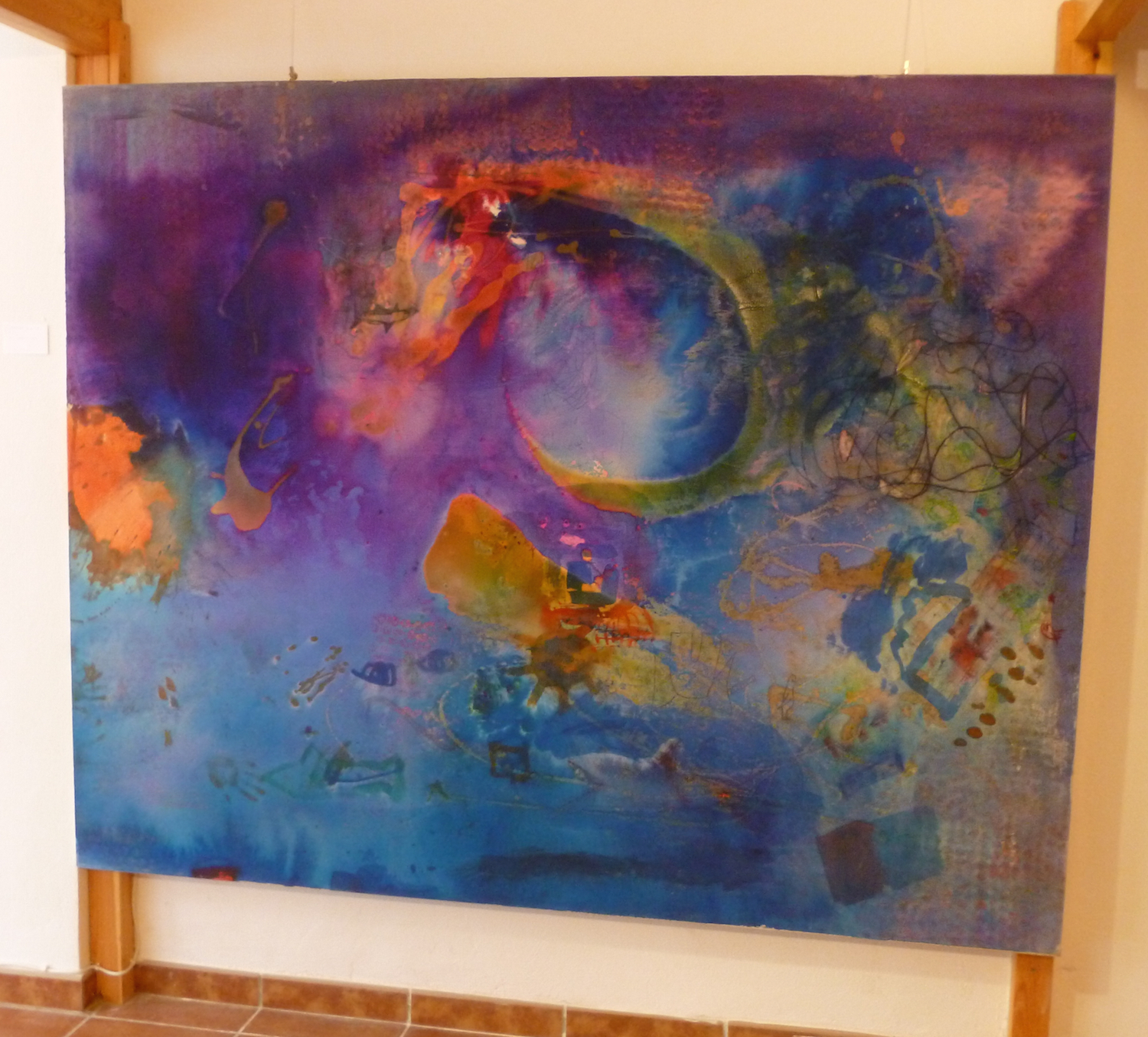 Dinner Party  mixed media on canvas 200 x 150 cm  Corinna Boughton