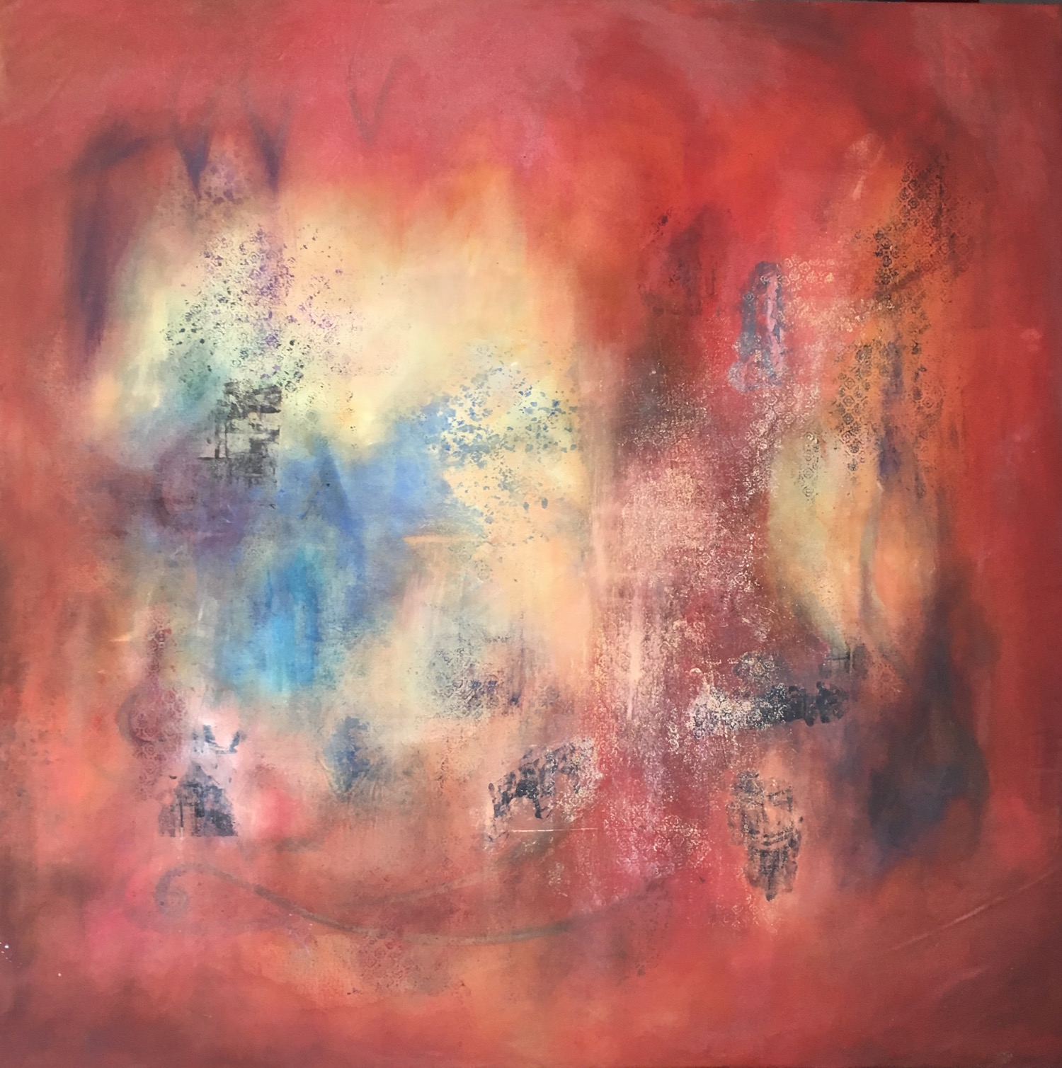 Kings X Project no. 1  oil and mixed media on canvas  150cm x 150cm