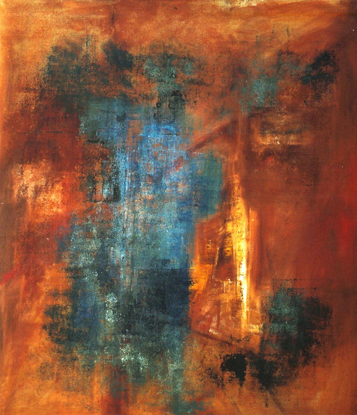 Blue Door   oil on canvas  250cm x 150cm