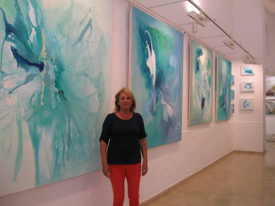 Corinna Boughton with 'Butterfly', Ice Flow 1 and 2  June 2013.jpeg