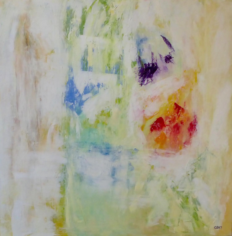 A Mediterranean Garden no. 1  oil on canvas  100cm x 100cm