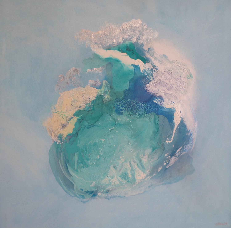 Ice Flo no 8 (2018)  acrylic on canvas  110cm x 110cm