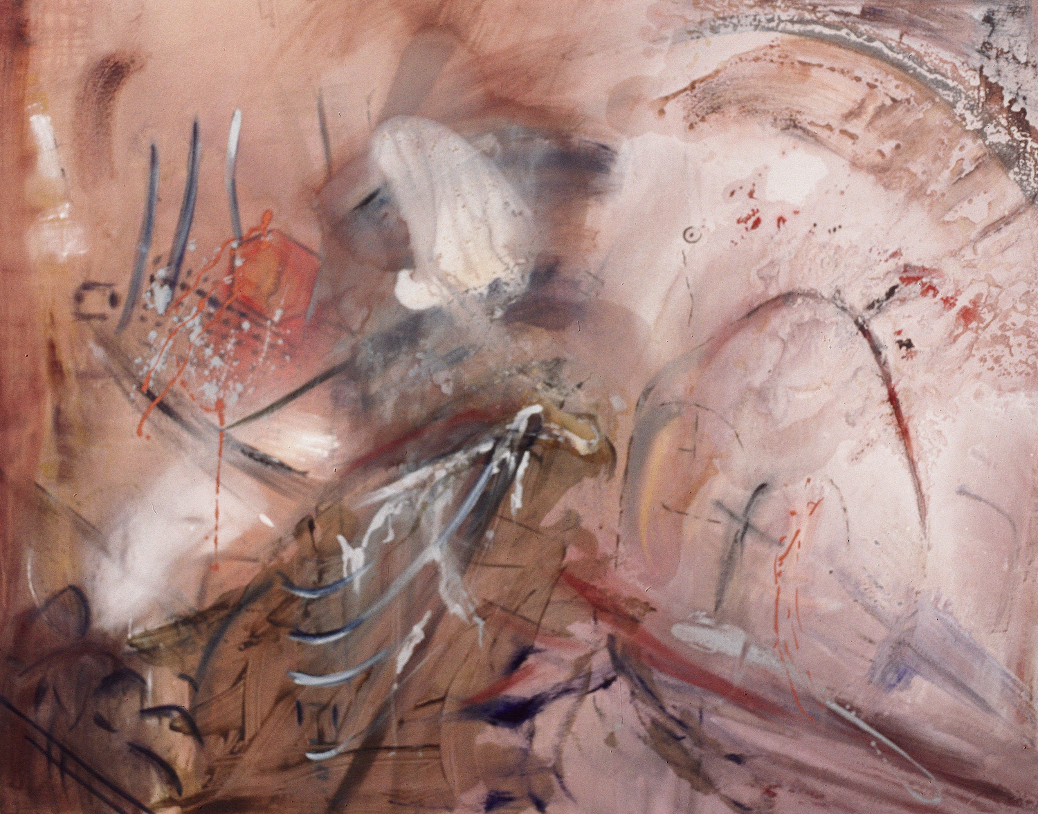 The Storm  mixed media on canvas  Corinna Boughton