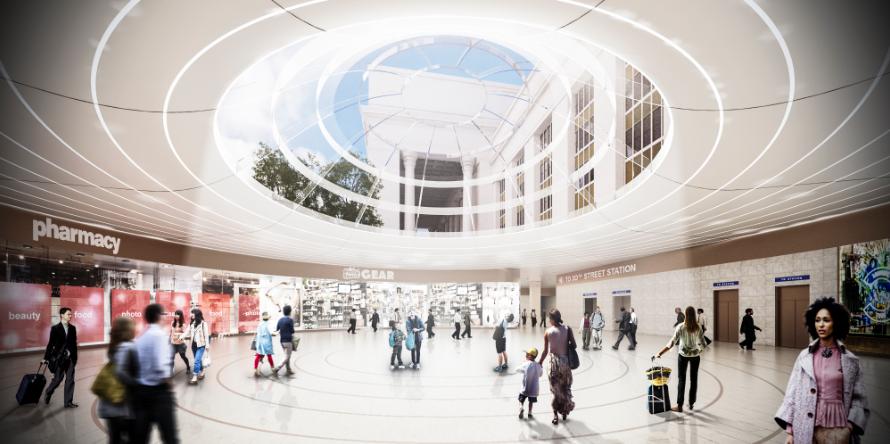 Underground Concourse to SEPTA MFL  (.jpg, 5 MB), June 2016