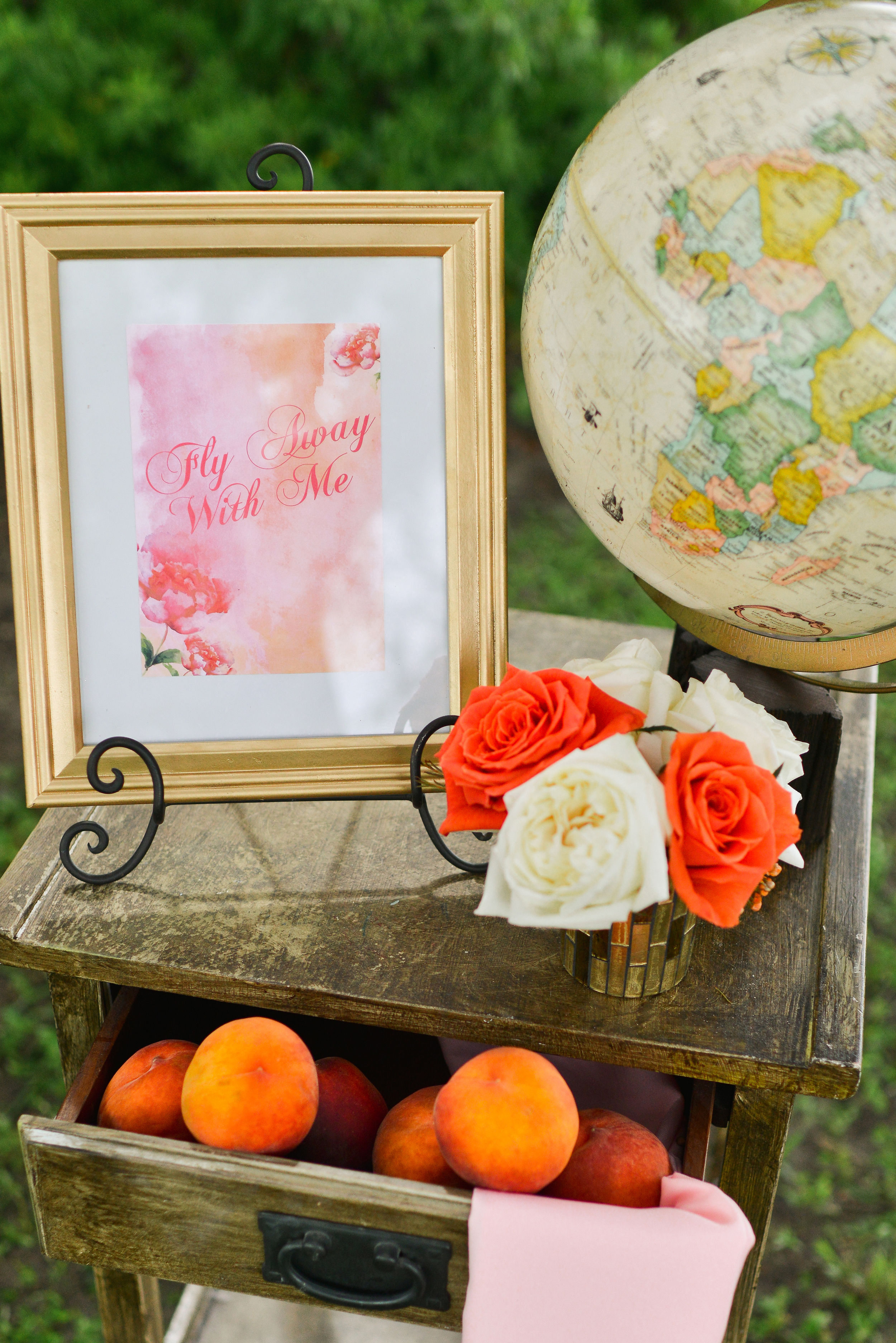 Welcome Sign for Watercolor Wedding