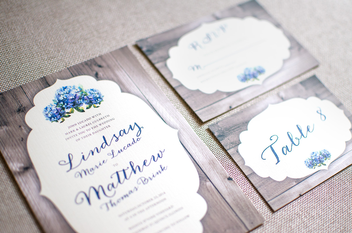 Wedding Invite, RSVP Card, Table Number
