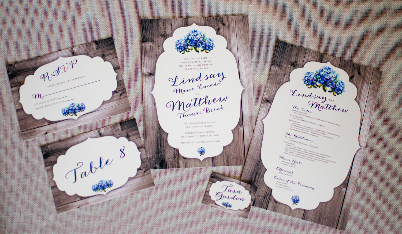 Rustic Shabby Chic Wedding Invitation Suite