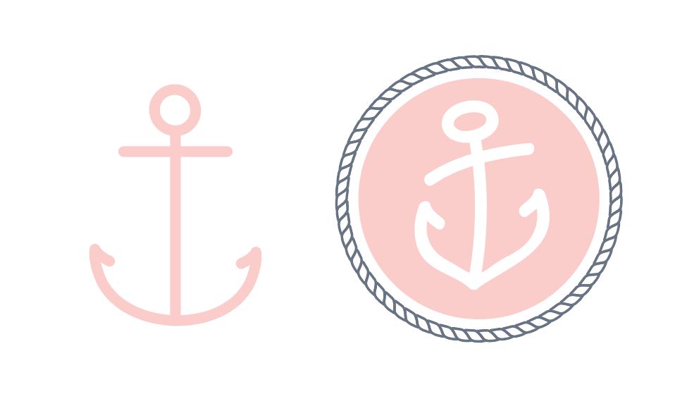 Initial anchor (left)vs.final design (right)