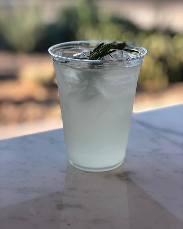 Rosemary Lemonade. It's already hot out there!