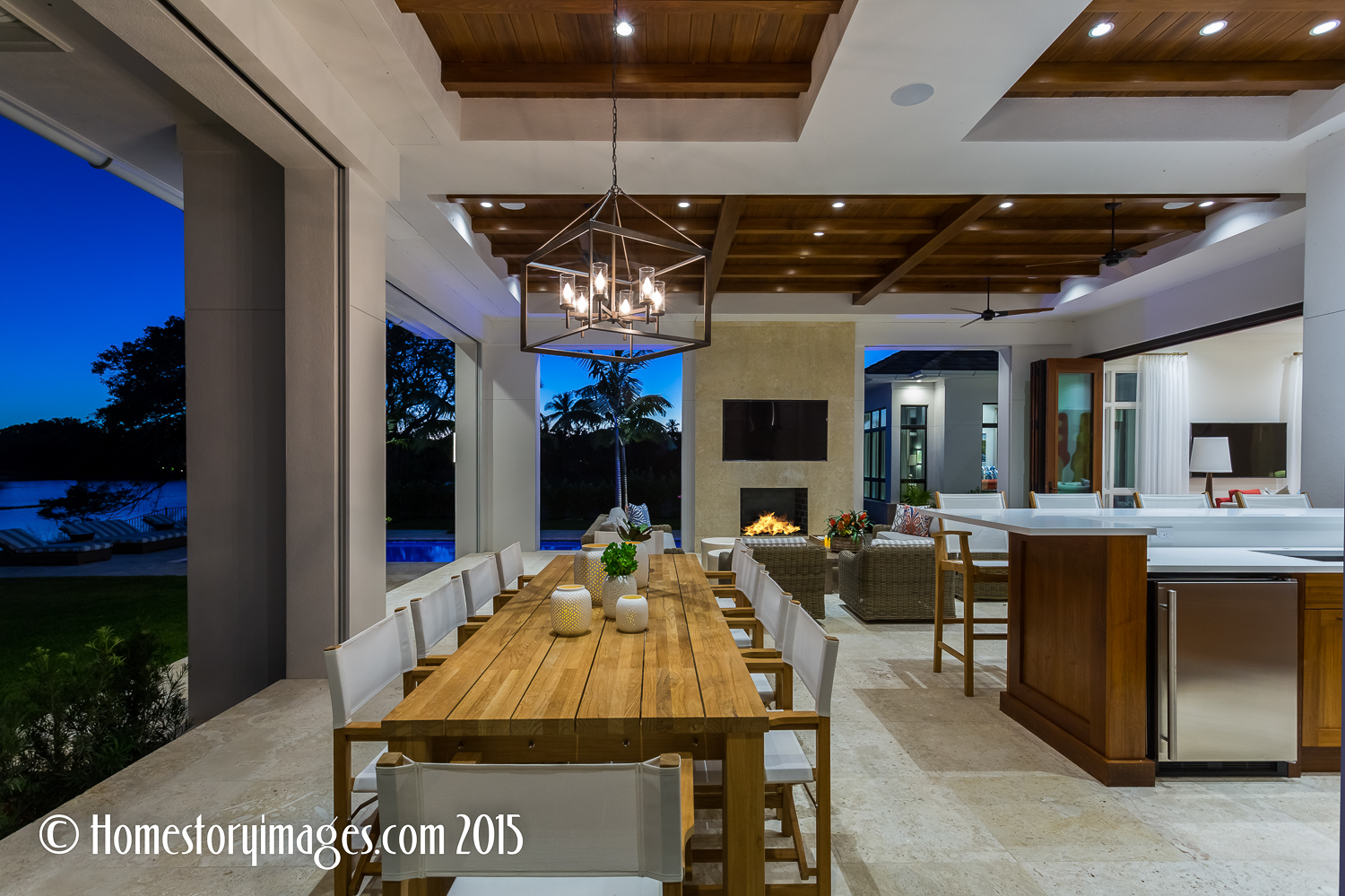 Luxury outdoor kitchen shot by Home Stories Photography