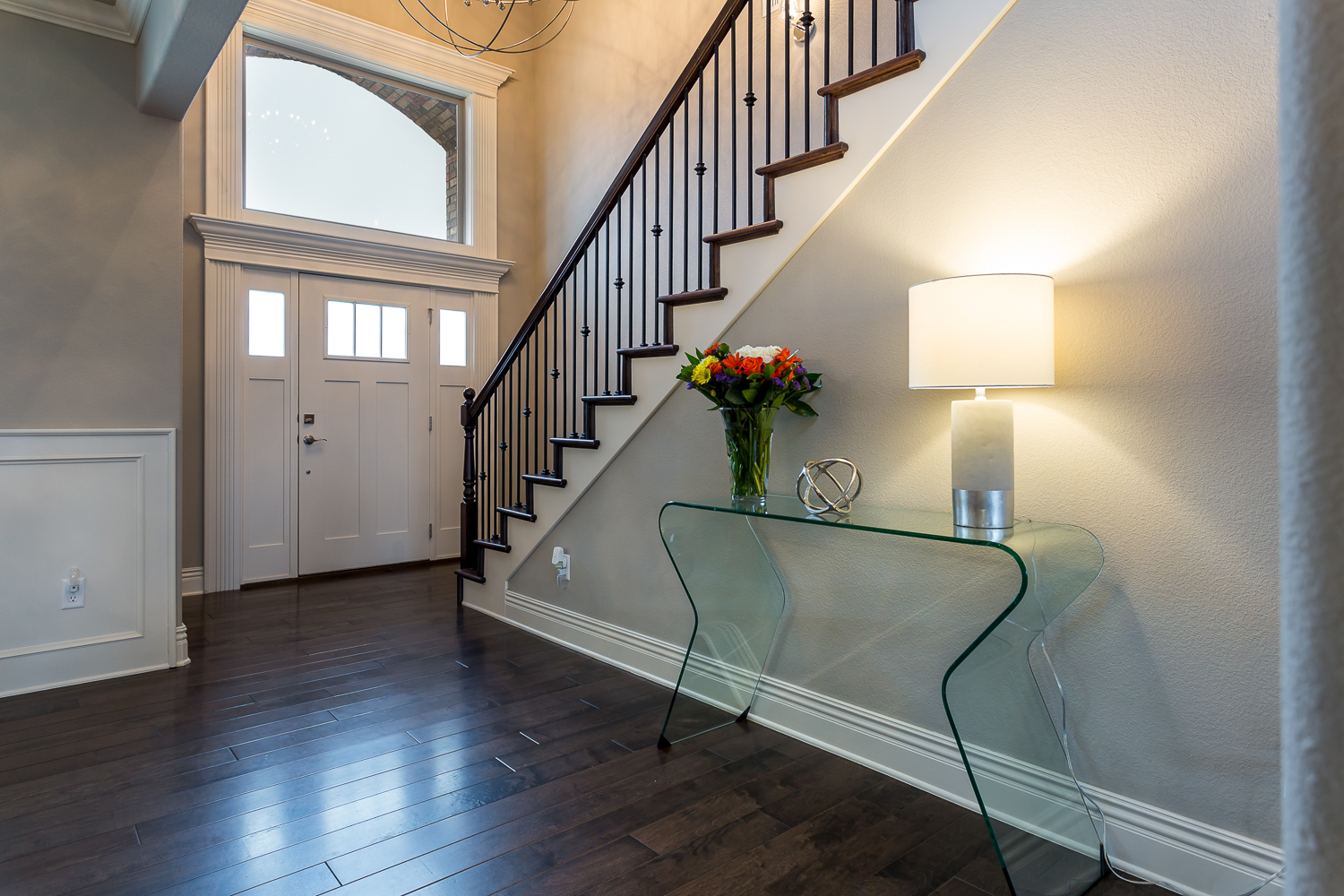 Foyer shot  real estate photo of home in Quailridge community of