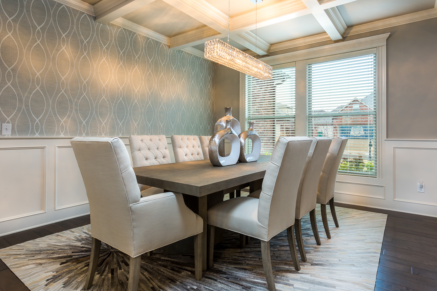 Dining Room real estate photo of home in Quailridge community of
