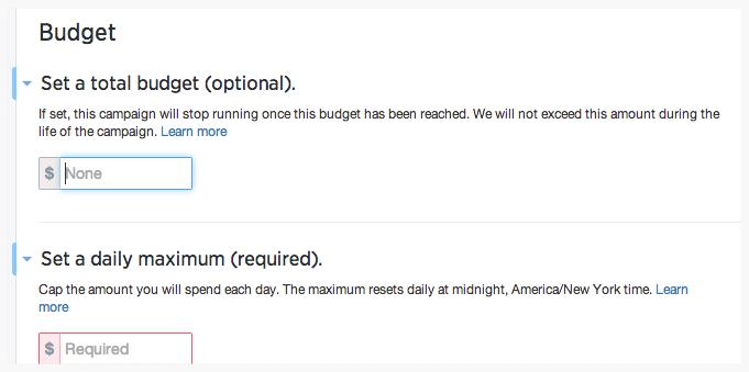twitter ad budget