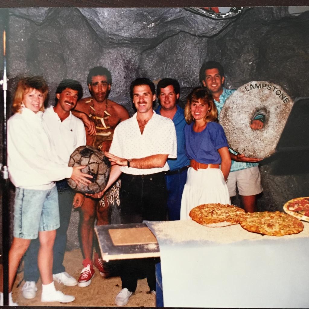 Caveman Video in the 90s (Dan & Paul Barro from LP corporate, Franchisees Joy & Mike Flynn from Orange, Gary Mizell from Palos Verdes.jpg