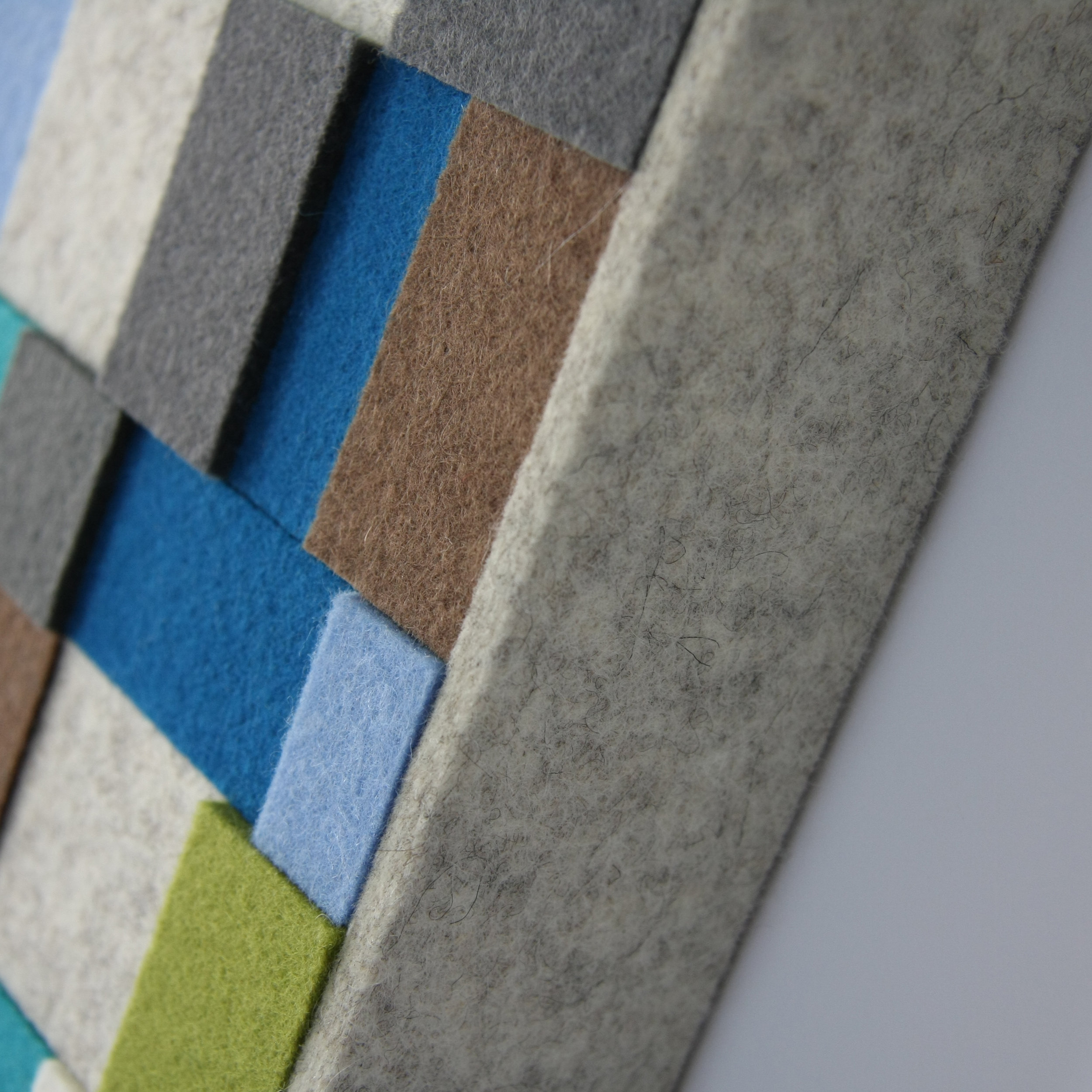 Aerial Wall Panel - Blue /Brown