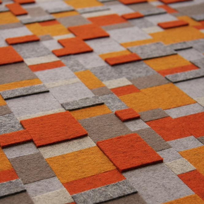 Aerial Wall Panel - Orange / Gray