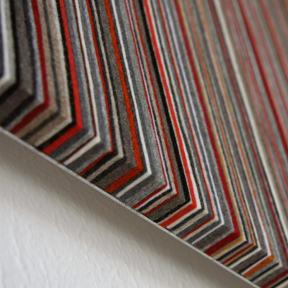 071 Wall Panel - Red / Gray / Orange