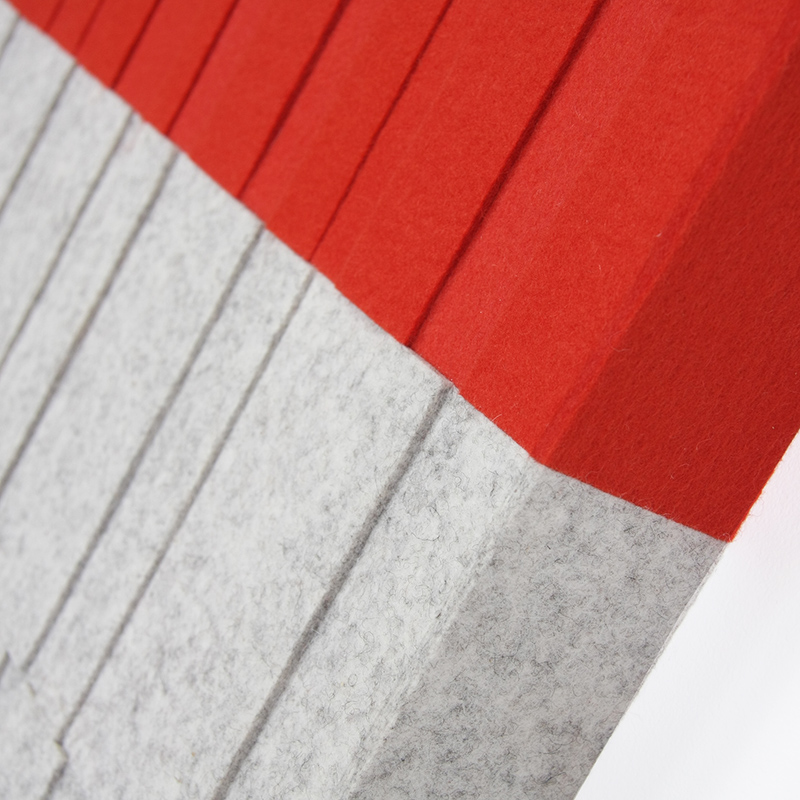 Index Dimensional Wall Panel - Dip Dyed Red / Gray