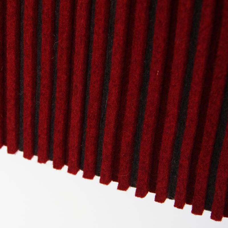 Ribsy Wall Panel - Red / Gray