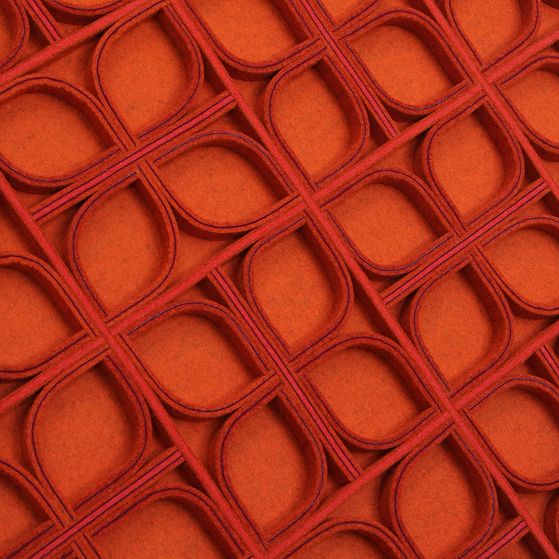 Diade Wall Panel - Orange / Purple