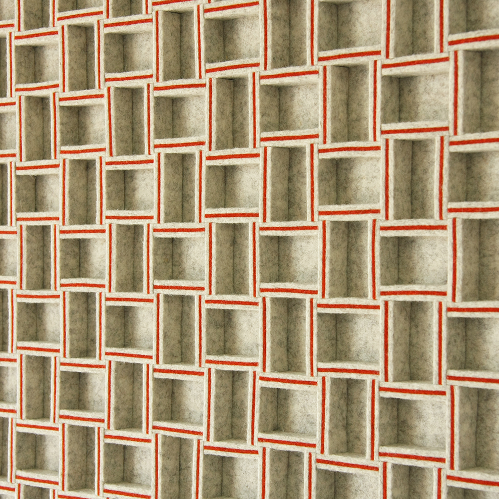 068 Wall Panel - Gray / Red