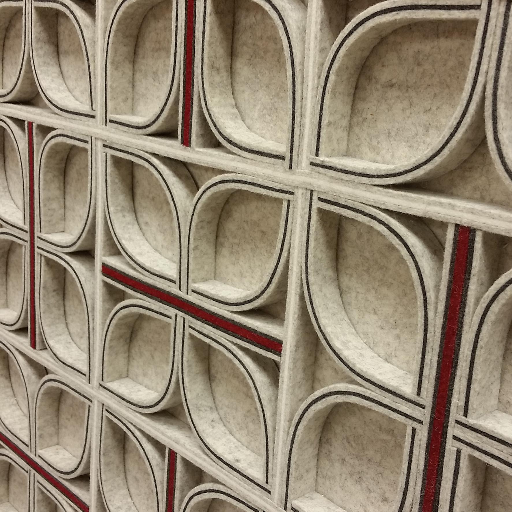 Diade Wall Panel - Gray / Red