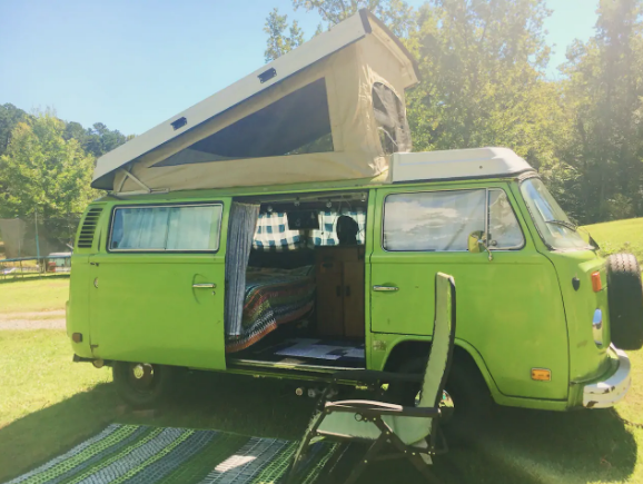 Retro VW Pop-up camper - $30 a night 4 guests, 2 beds, 2 shared baths near byClick here for Airbnb listing