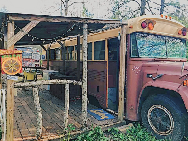 Grilled Cheese Wagon  - $50 a night 5 guests, 4 beds, outdoor kitchennette, 2 shared baths near by.