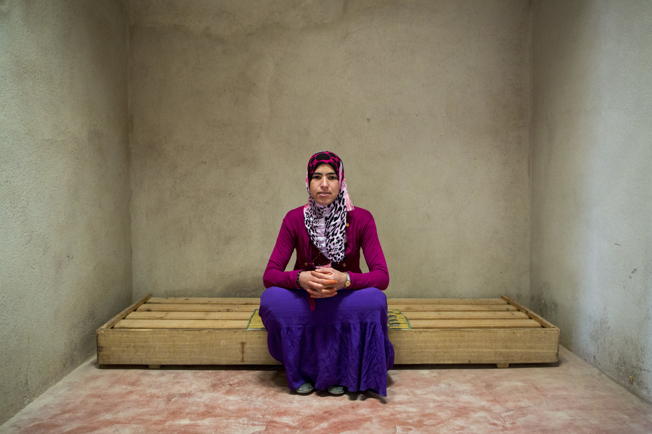 """Mina Ait Hmad, 23, is going to be married soon, """"I regret dropping out of school, but it's too late now for me to go back now. I'm getting ready for the next stage in my life."""""""