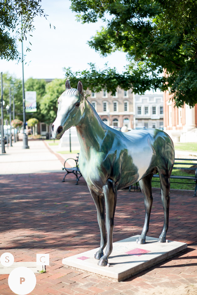 There are still a few horses on the Newnan square from T he Newnan-Coweta Historical Society  public art exhibit A Horsey Affair.
