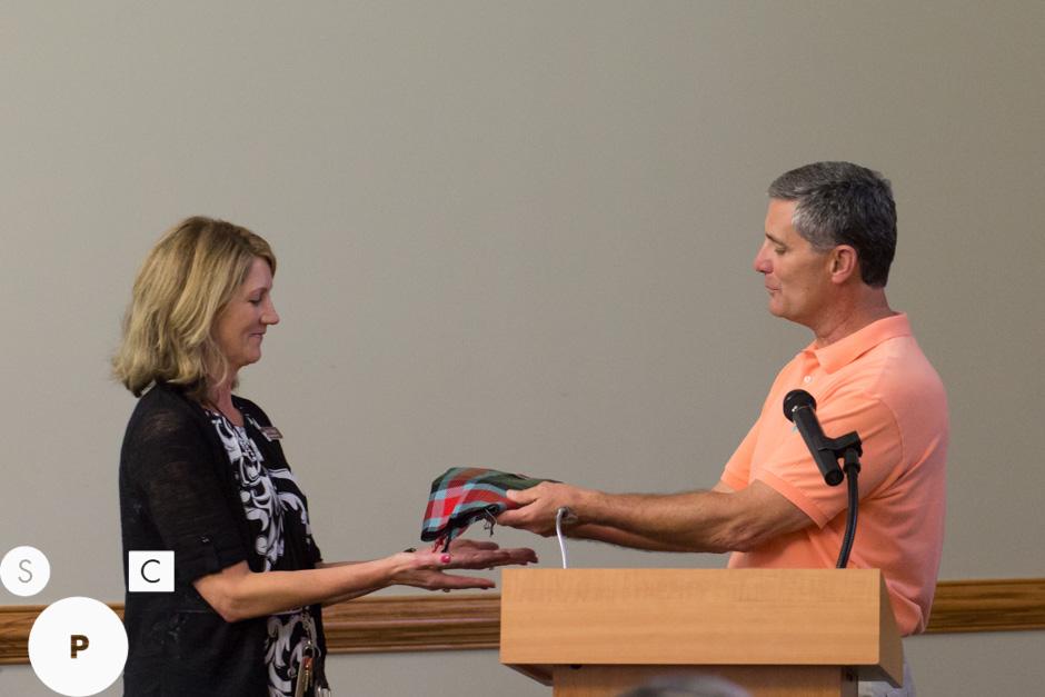 Mayor Keith Brady and Carnegie Library Director Amy Mapel